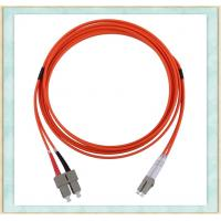Quality Duplex Single Mode Fibe Optic Patch Cord With 2mm Diameter ST SC FC Connector for sale