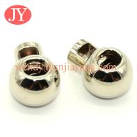 Quality jiayang Wholesale antique brass metal draw cord end lock stopper for sale