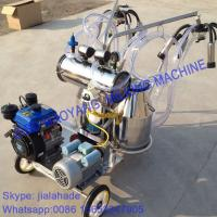 Buy Gasoline-Vacuum Pump Dual-Typed Double Bucket Portables Milking Machine, Double Motor for cow and goat,easy handle at wholesale prices