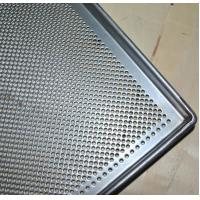 Quality Metal Perforated Baking Serving Tray For Oven , Stainless Steel Food Tray for sale