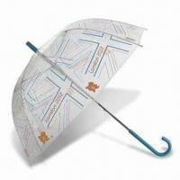 Quality London 2012 Union Flag Clear Dome Umbrella, Made of Recycled Polyester for sale