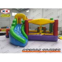 Quality Safety Inflatable Bouncer , Custom Design Inflatable Jumping Bed With Slide CE for sale