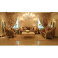 Quality High End Romantic Sofa set made by Solid Wooden Frame with Leather and Fabric Cushion for sale