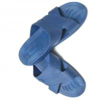 Quality Anti static ESD Slipper Cross Type SPU Material Color Blue Black White w/ESD Logo for sale