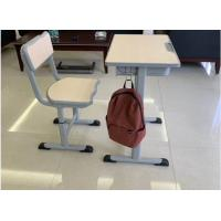Quality Cold Rolled Steel Student Desk And Chair Set Commercial Furniture Eco - Friendly Material for sale