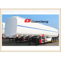 Quality Independent Stamping Steel Rigid Suspension Fuel Tanker Trailer , Fuel Tanker Semi Trailer for sale