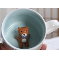 Quality Single Layer White 3D Promotional Ceramic Coffee Mugs for sale