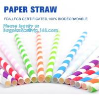 China biodegradable paper drinking straw, paper for paper straw, disposable paper straw,Bendy Flexible Paper Straws For Drinki on sale