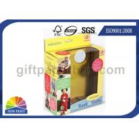 Quality Custom Kids Toys / Dolls Corrugated Packaging Box with Clear Windows , Paper Gift Boxes for sale