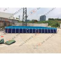 Quality 0.9mm PVC tarpaulin Large moving swimming pool inflatable pool frame of the lacquer for sale