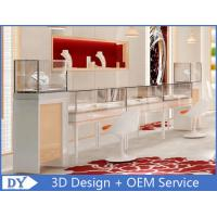 Quality OEM Easy Install Wood Glass Jewelry Display Cases / Jewelry Showcases For Retail Shop for sale