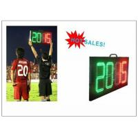 Quality Digital Number 2 Color LED Soccer Substitution Board 2 Side IP62 Light Weight for sale