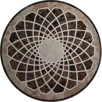 Quality Emperador Flower Mosaic Tile Wall Art , Round Outdoor Mosaic Art Projects for sale