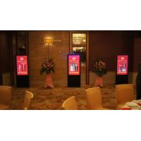 China 18.5 inch High quality elevator LCD advertising player floor stand transparent LCD video advertising display on sale