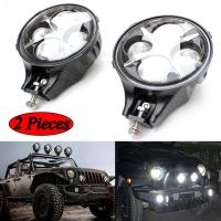 Quality 60W CREE LED Work Light Round White Fog Light For Jeep Wrangler Off Road 4X4 for sale