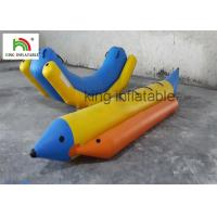 Quality 0.9mm PVC Tarpaulin Inflatable Banana Boat / Water Inflatable Banana Raft For Stream Fly Fishing for sale