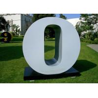 Buy Letter O Garden Free Standing Sculpture Large Stainless Steel letter Sculpture at wholesale prices
