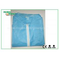 Colored Zip medical lab coats for Workers , lightweight lab protective clothing