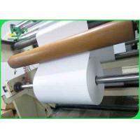 Quality High Brightness White Bond Paper / 60 gsm Uncoated Woodfree Paper For Magazines for sale