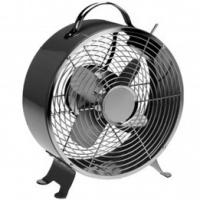 Quality SAA 20cm Black Retro Electric Fan Table Fan 2 Speed Australia Metallic With 4 Blades for sale