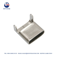 Quality SS201 6.4mm 0.38mm 50M Stainless Steel Clip for sale