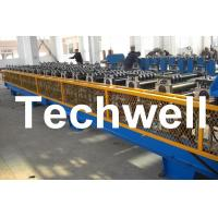 Quality 7.5KW High Speed Double Deck / Layer Roll Forming Machine With Automatic Hydraulic Cutting for sale