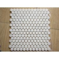 Quality White Black Penny Grey Mosaic Floor Tiles , Various Patterns Stone Brick Mosaic Tiles for sale