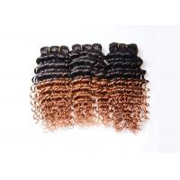 Quality Ombre Virgin Brazilian Hair Deep Wave Two Tone Ombre Hair Extensions 1b/30 for sale