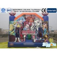 Quality Monster High Theme Inflatable Jumping Castle 0.55mm PVC Tarpaulin EN-14960 for sale