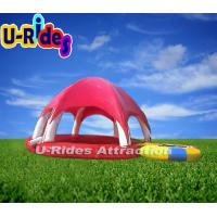 Quality 0.9-1.0mm PVC Round Inflatable Swimming Pools Tent Hot Welded For Playing Center for sale