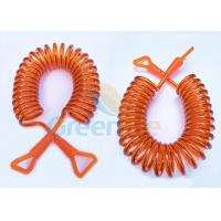 Quality Orange Wire Coiled Toddler Safety Harness Hand Touch With New Style Connectors for sale