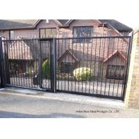 China Home Garden Automatic Driveway Gates Pedestrian Swing Gate with Steel Fence Design on sale