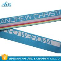 Quality Wide Nylon / Polyester / Cotton Underwear Elastic Band With Custom Logo for sale