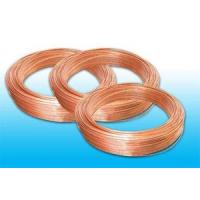 China Plated Low Carbon Refrigeration Copper Tube , Bundy Tube 8 * 0.6 mm on sale
