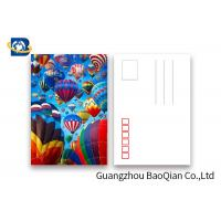 Quality Coloful Hot Air Balloon 3D Lenticular Postcards PET / PP Similar To Holograms for sale