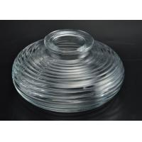 Quality Little hight High white glass diffuser bottle Round Shape wide dia circle line for sale