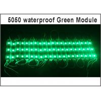 Quality DC12V SMD 5050 3LEDs LED Modules IP65 Waterproof Light Lamp 5050 Green High Quality Advertising Light for sale