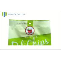 Quality Green Printed Laminated Bags For Fried Chips , Back Side Seal Bag for sale