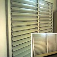 Quality Blind / Shutter Industrial Aluminum Profile , Louver / Jalousie Extrusion Profiles for sale