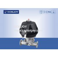 China Hygienic pneumatic sanitary diaphragm valves with Plastic Actuator Intelligent Positioner on sale