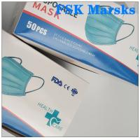 Quality CE FDA 3 Ply Surgical Face Mask Disposable Mouth Mask Adjustable Nose Bridge for sale