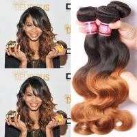 Quality Ombre Human Hair Extensions Brazilian Virgin Hair Body Wave 1b / 30 for sale