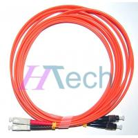 China SC-FC Fiber Optic Patch Cord Connector,Multimode Patch Cord,Orange Color on sale