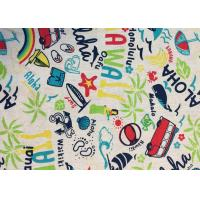 Quality Contemporary Novelty Print Fabric , Sportswear / Suit Printing On Cotton Fabric for sale
