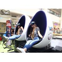 Quality Infinity 9D 720 Virtual Reality Equipment VR Egg Chair 2 Seats For Game Zone for sale
