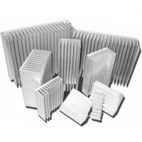 Quality Silvery Anodized Aluminum Heat sink Extrusion Profiles , Aluminum Radiator for sale