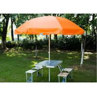 Quality Steel Frame Outside Patio Table Umbrella , Stand Alone Parasol For Garden for sale