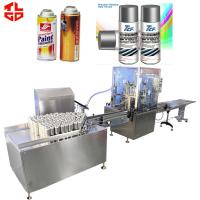 Quality Automatic Spray Paint Can Filling Machine For Organic Spray Paint 2000-3600cans/Hour for sale