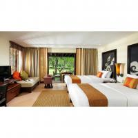 Quality Commercial Hotel Lobby Bedroom Suite Furniture Durable Fabric Or PU Leather Upholstery for sale