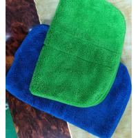 Buy cheap Microfiber Green Colorful Coral Fleece Stitching Car Kitchen Towels 26*36cm from wholesalers